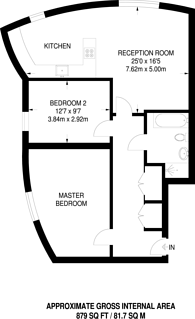 Large floorplan for Aberdeen Lane, Highbury, N5