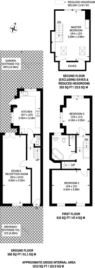 Large floorplan for Grosvenor Park Road, Walthamstow Village, E17