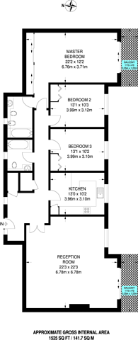 Large floorplan for Campion Close, Croydon, CR0