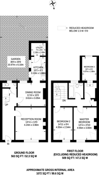 Large floorplan for King William IV Gardens, Penge, SE20