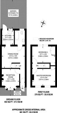 Large floorplan for Poplars Road, Walthamstow, E17