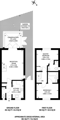 Large floorplan for Nash Close, Sutton, SM1
