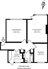 Large floorplan for Ealing Village, Ealing, W5