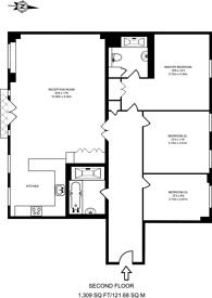 Large floorplan for Bayswater Road, Bayswater, W2