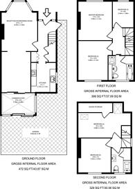 Large floorplan for Herbert Road, Kingston, KT1