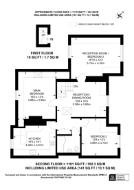 Large floorplan for Beauchamp Road, East Molesey, KT8