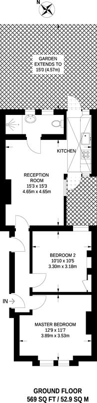 Large floorplan for Courtenay Street, Kennington, SE11