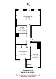 Large floorplan for Rutland Gate, Knightsbridge, SW7