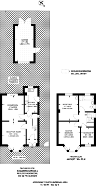 Large floorplan for Field End Road, Harrow, HA4