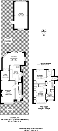 Large floorplan for Pine Gardens, Ruislip, HA4