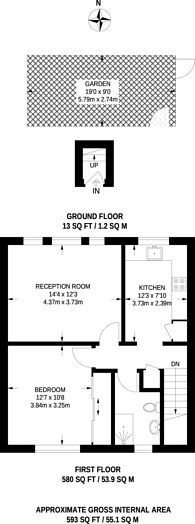 Large floorplan for Parkfield Road, Willesden, NW10