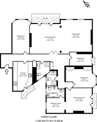 Large floorplan for Blomfield Court, Little Venice, W9