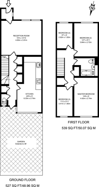 Large floorplan for Clifford Drive, Brixton, SW9