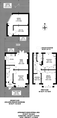 Large floorplan for Eylewood Road, West Norwood, SE27