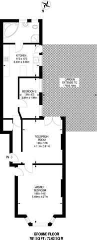 Large floorplan for Queens Road, Wimbledon, SW19