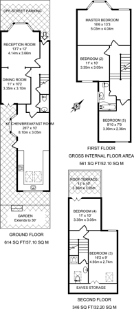 Large floorplan for Alexandra Road, Wimbledon, SW19