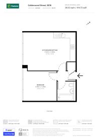 Large floorplan for Vista Building, Woolwich, SE18