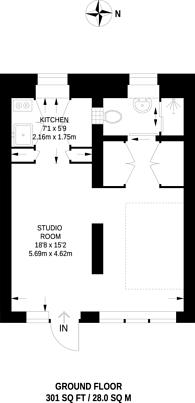 Large floorplan for Bowes Road, Bowes Park, N13