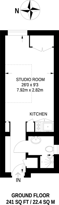 Large floorplan for Riverside Apartments, Russell Road, Bowes Park, N13