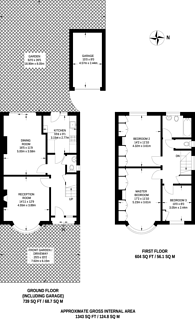 Large floorplan for Vyner Road, Acton, W3