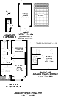 Large floorplan for Gunnersbury Avenue, Gunnersbury, W3