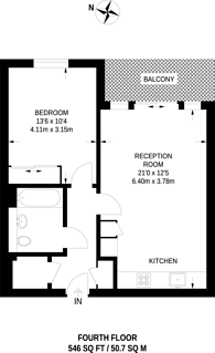 Large floorplan for Pump House Crescent, Brentford, TW8