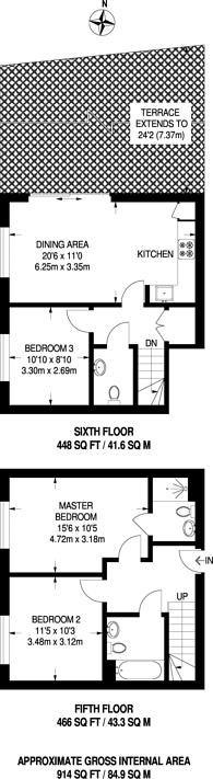 Large floorplan for Devons Road, Bow, E3