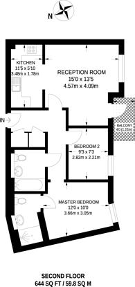 Large floorplan for Hirst Crescent, North Wembley, HA9