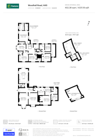 Large floorplan for Woodhall Road, Pinner, HA5
