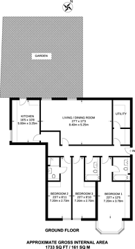 Large floorplan for Queens Road, Hendon, NW4