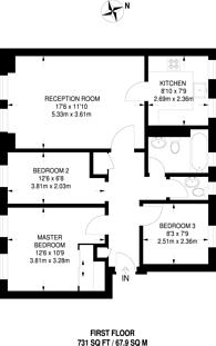 Large floorplan for Grove Road, Surbiton, KT6