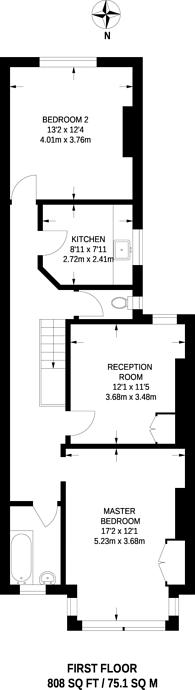 Large floorplan for Wyatt Park Road, Streatham Hill, SW2