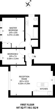 Large floorplan for Thrale Road, Furzedown, SW16