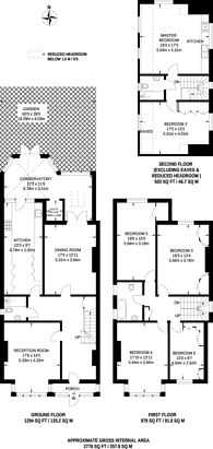 Large floorplan for Telford Avenue, Telford Park, SW2