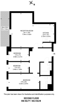 Large floorplan for Seager Place, Deptford, SE8
