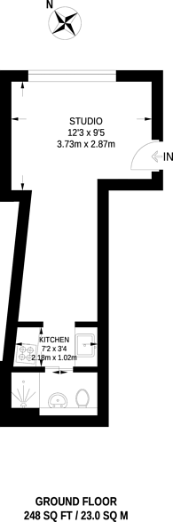 Large floorplan for Seager Place, Deptford, SE8