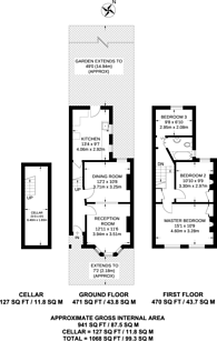 Large floorplan for South Esk Road, Forest Gate, E7