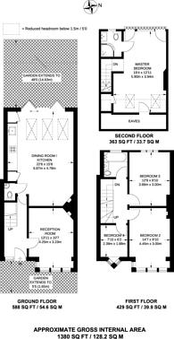 Large floorplan for Aveling Park Road, Lloyd Park, E17