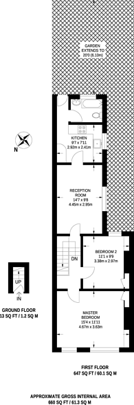 Large floorplan for Antill Road, Bow, E3
