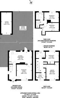 Large floorplan for Hillside Close, Knaphill, GU21