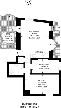 Large floorplan for Vale Royal House, New Port Court, Covent Garden, WC2H