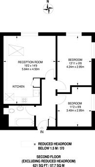 Large floorplan for Hillcrest Court, Queens Road, Guildford, GU1