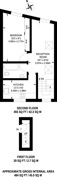 Large floorplan for Lower Richmond Road, Putney, SW15