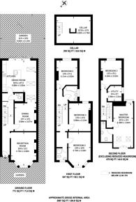 Large floorplan for Sarsfeld Road, Nightingale Triangle, SW12