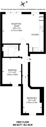 Large floorplan for Haselrigge Road, Clapham High Street, SW4