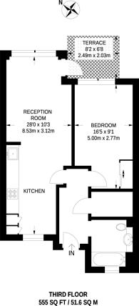 Large floorplan for Lawrence Road, Seven Sisters, Tottenham, N15