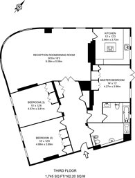 Large floorplan for Northumberland Avenue, Covent Garden, WC2N