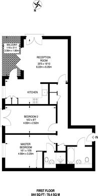Large floorplan for Bramah Road, Brixton, SW9