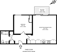 Large floorplan for Glenthorne Road, Hammersmith, W6