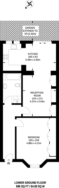 Large floorplan for Mall Road, Hammersmith, W6